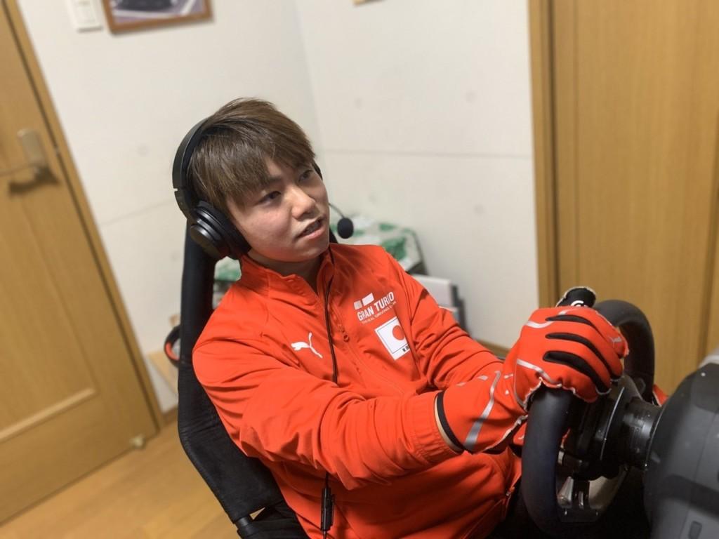 グランツーリスモでは既に高い知名度を誇る、茨城国体では京都府代表(1位通過)にもなった岡田(アペックス)選手
