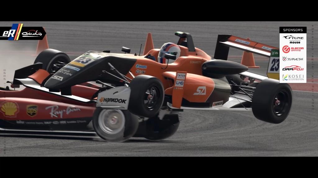 1コーナーを抜けた先の高速S字ではOkamoto選手がKajitani選手に追突してしまう形で接触。若干ラグヒットのような動きも見られたが、結果的には2台ともスピンアウトし戦線離脱となってしまった。